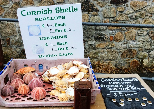 Cornish Shells and ingots at Charlestown Harbour - image zoedawes