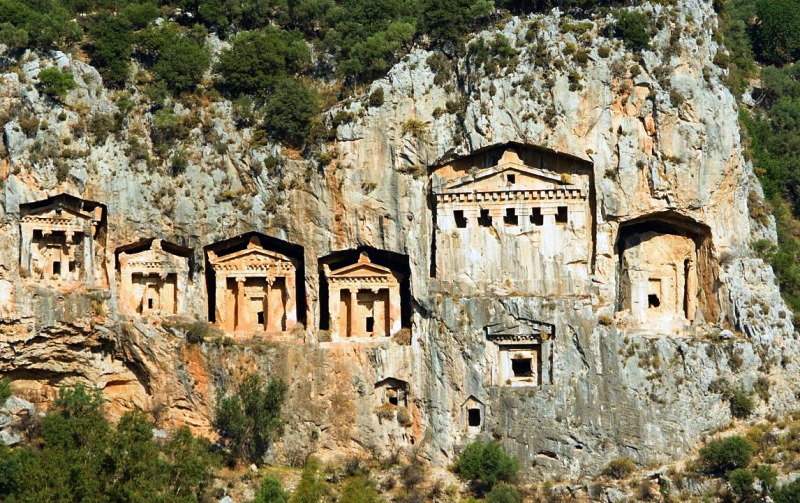 Dalyan Turkey Lycian tombs Turquoise Coast