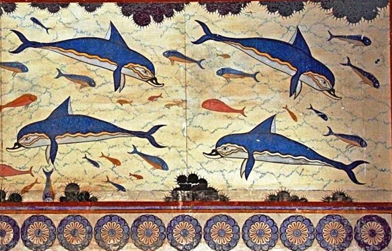 Dolphin Fresco from Knossos - Minoan Crete - photo Armagnac