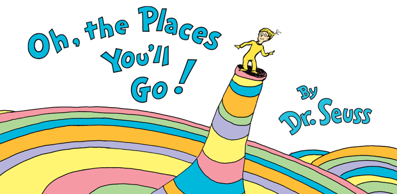 Dr Seuss Oh the Places You'll Go with The Quiry Traveller