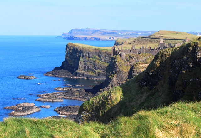 Dunluce Castle and Giant's Causeway on Irish Coast NI - zoedawes