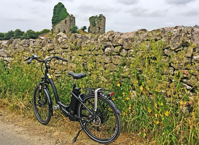 Electric Bike at Gleaston Castle Cumbria
