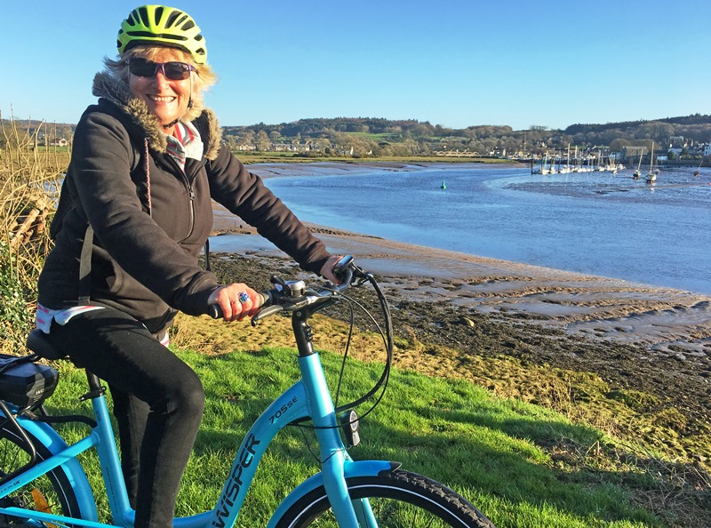 Electric bike ride with Galloway Cycling overlooking Kirkcudbright harbour