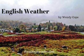 English Weather - poem by Wendy Cope - image Zoe Dawes