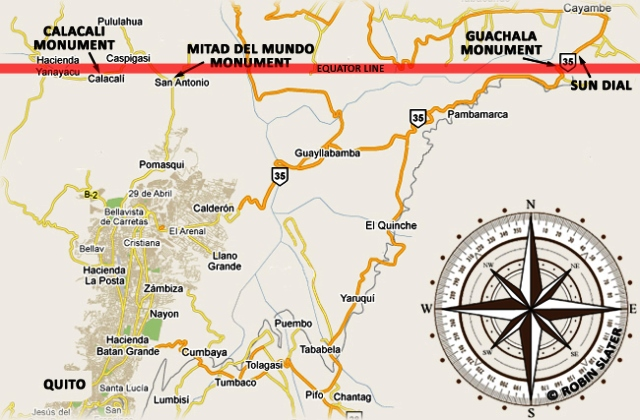 Equator Monument Map Ecuador - from sangay.com