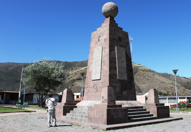 The Equator Obelisk Ecuador - photo Zoe Dawes