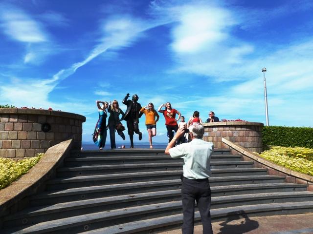 Eric Morecambe Statue Lancashire - photo Zoe Dawes