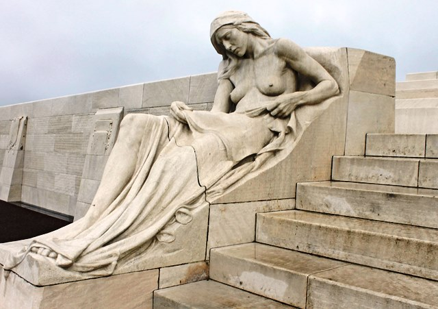 Female mourner Vimy Ridge Memorial