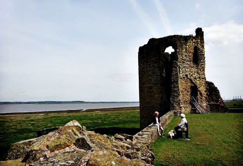 Flint Castle and Dee Estuary NE Wales