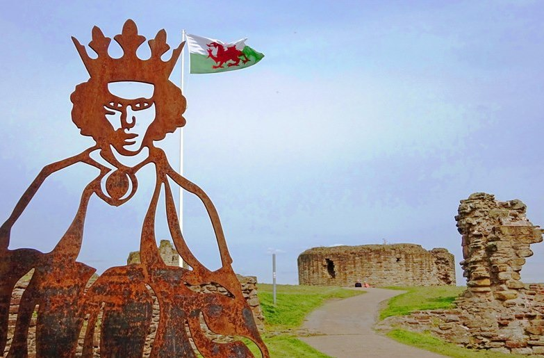 King Edward i at Flint Castle NE Wales - The Quirky Traveller