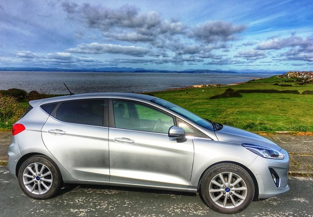 The new Ford Fiesta beside Morecambe Bay - The Quirky Travelller