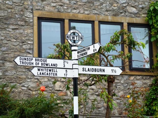 Forest of Bowland signpost Lancashire