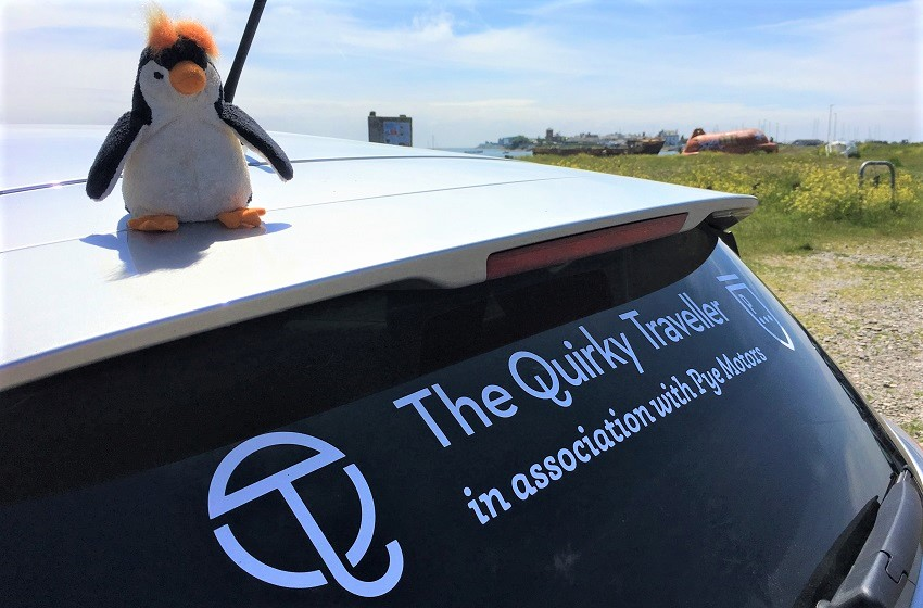 Quirky Penguin on Foulney Island with Pye Motors