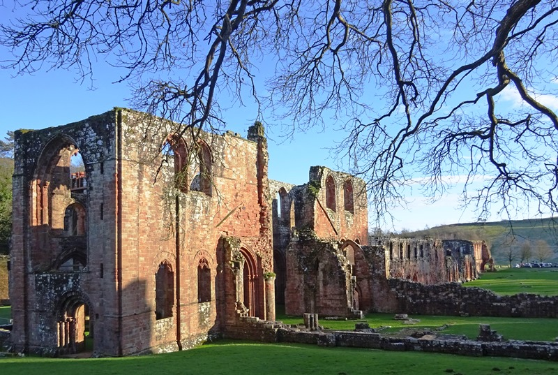 Furness Abbey owned by English Heritage in Cumbria on Furness Peninsula