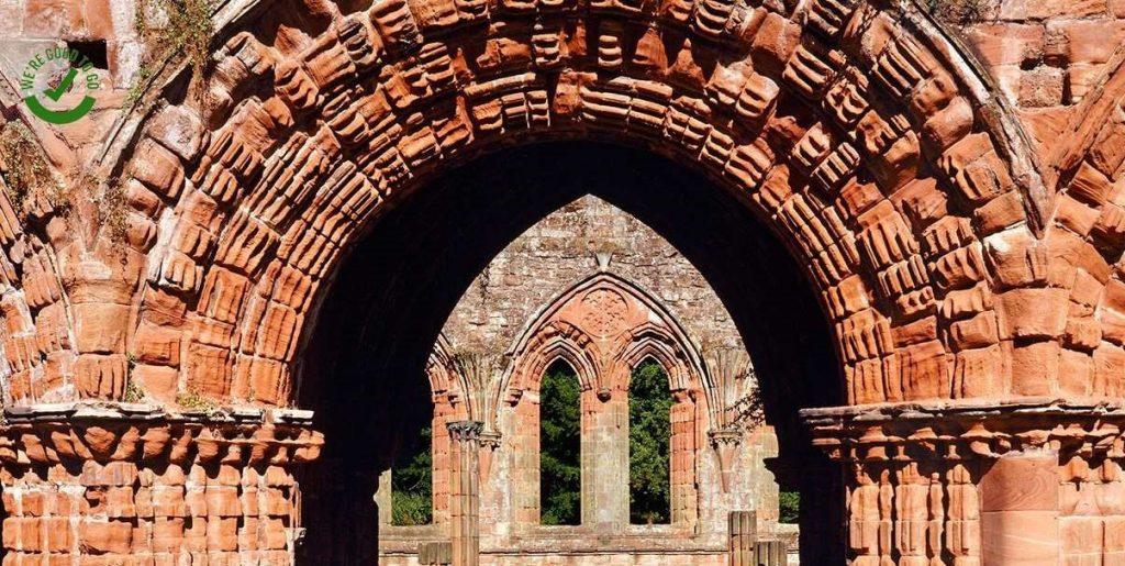 Furness Abbey near Barrow on Morecambe Bay Cumbria. Photo English Heritage