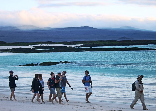 Guided walk on Galapagos Islands Ecuador - photo zoe dawes