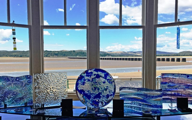 Art Gallery H and Arnside beach Cumbria - photo Zoe Dawes