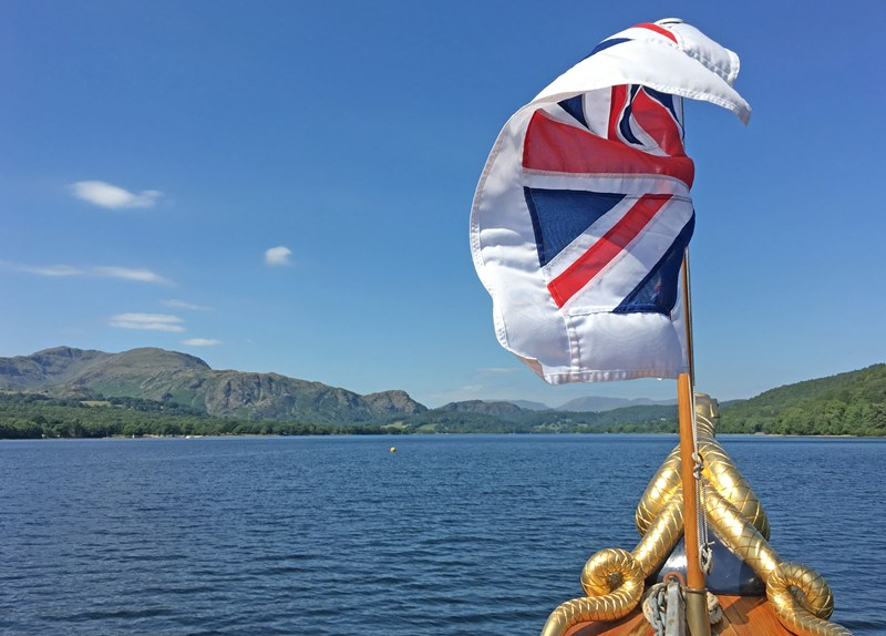 Steam Yacht Gondola and Old Man of Coniston Lake District - photo Zoe Dawes