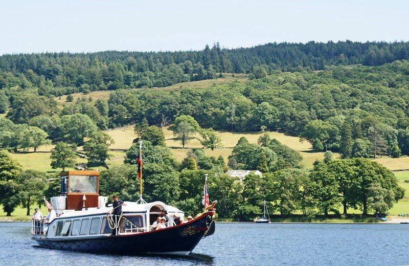 Steam Yacht Gondola on Coniston Water Lake District - photo Zoe Dawes