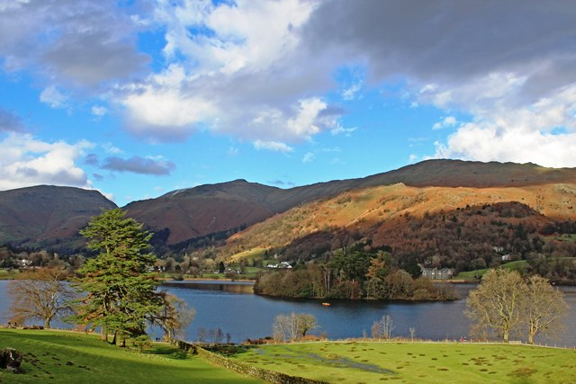 View of Grasmere from Dale End Loggia, Lake District