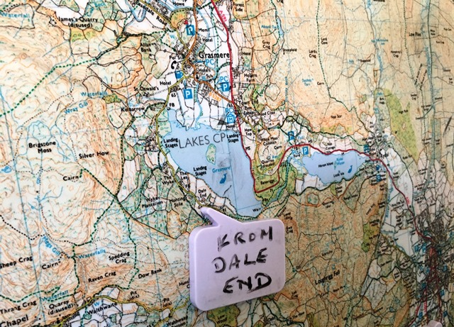 Grasmere map at Nationals Trust Allan Bank