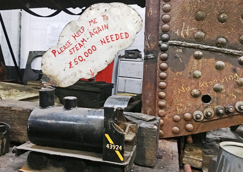 KWVR Haworth Locomotive Shed - steam engine appeal - photo Zoe Dawes