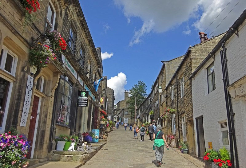 Haworth village Yorkshire by Rail
