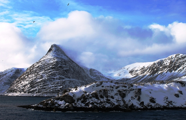 Hershey-Kiss-Mountain-Havoysund-Norway Hurtigruten Cruise - photo Zoe Dawes