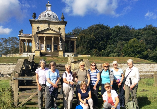 In front of Temple of the Winds, Castle Howard - HF Holidays - zoedawes