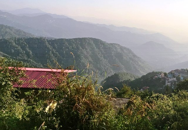 Himalayas from Toy Train India
