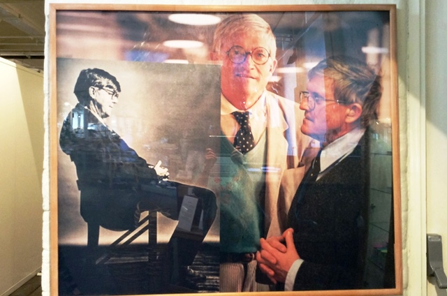 David Hockney and Alan Bennett - photo Salts Mill