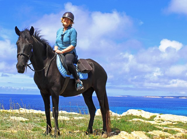 Horse riding on the Cami de Cavalls Menorca - image zoedawes