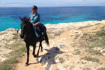 Horse riding at Son Bou on the Cami de Cavalls on Menorca - Zoe Dawes