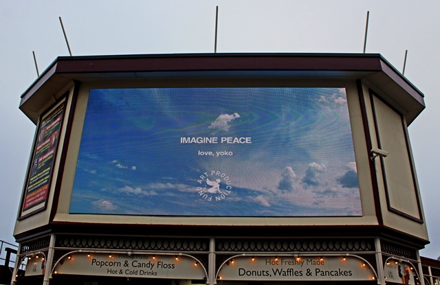 Imagine by Yoko Ono - Lightpool Blackpool - photo zoedawes