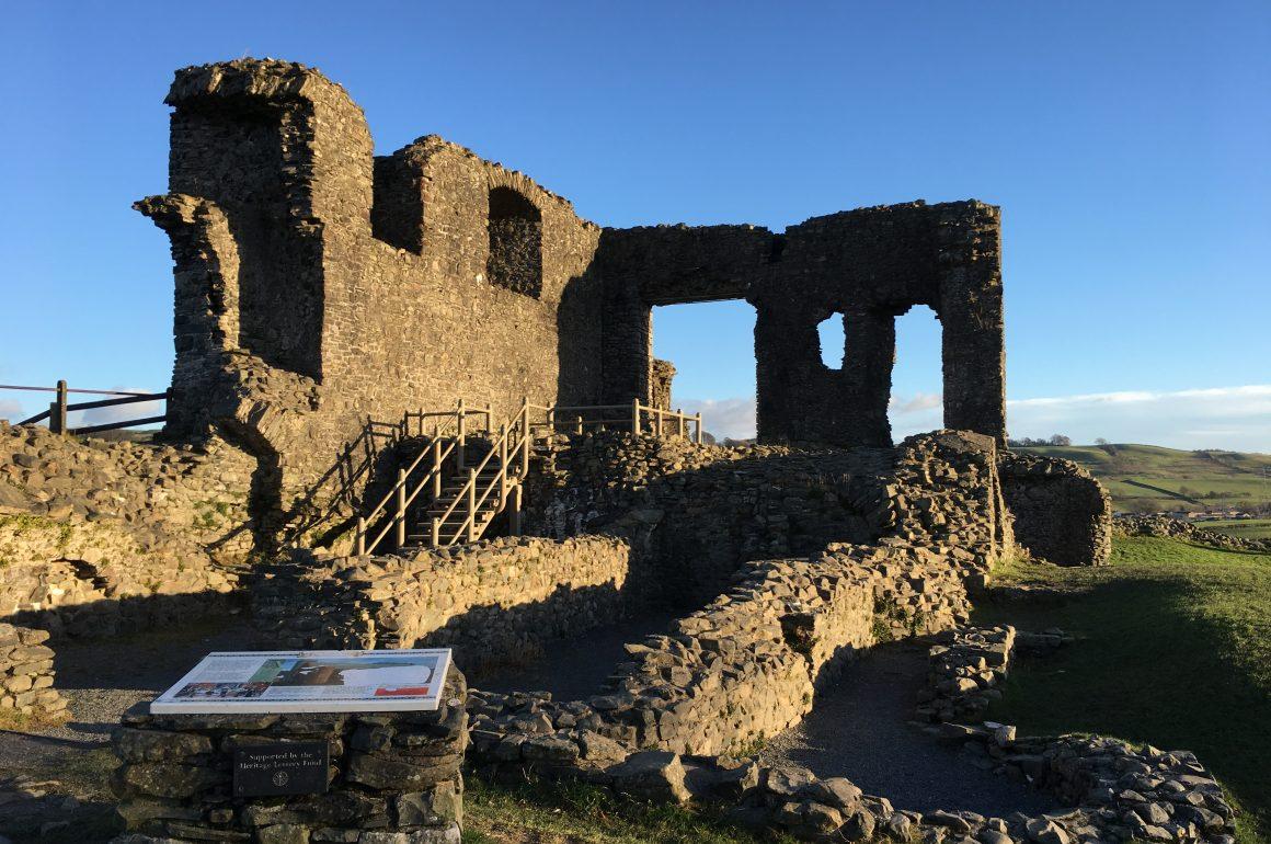 Kendal Castle ruins in Cumbria - photo Zoe Dawes
