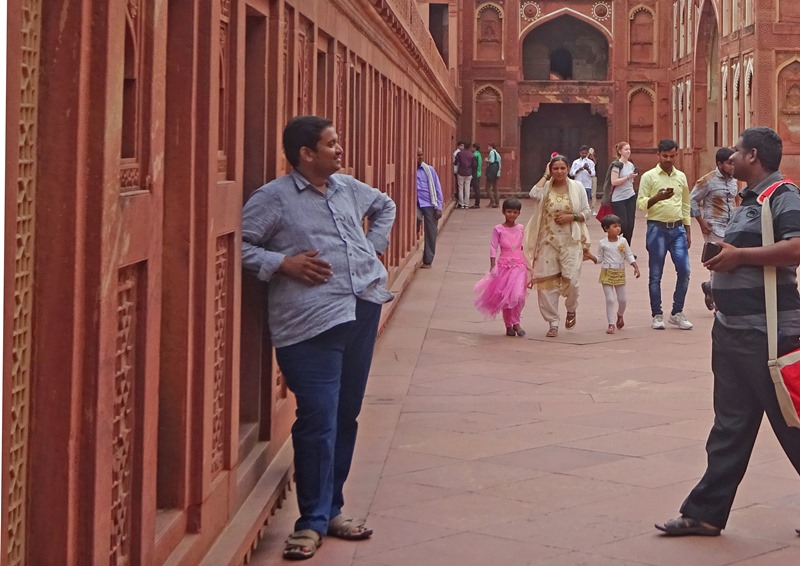 Visitors inside the Red Fort Agra in Rajasthan India. Photo - The Quirky Traveller