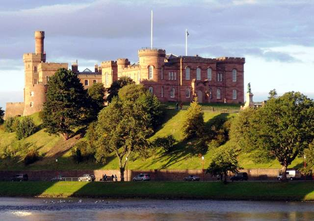 Inverness Castle overlooking River Ness - photo Dave Conner