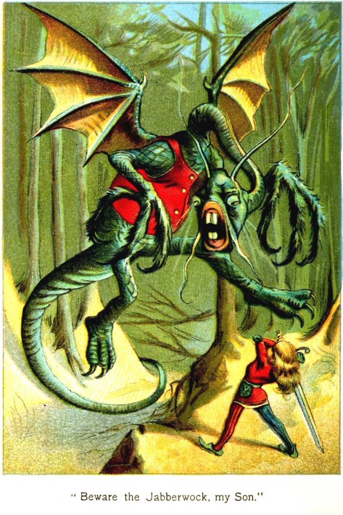 Quirky Travel Poem Jabberwocky By Lewis Carroll The