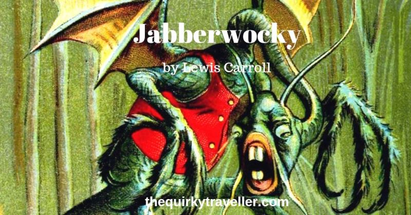 The Jabberwock illustrated by John Tenniel for Jabberwocky by Lewis Carrol