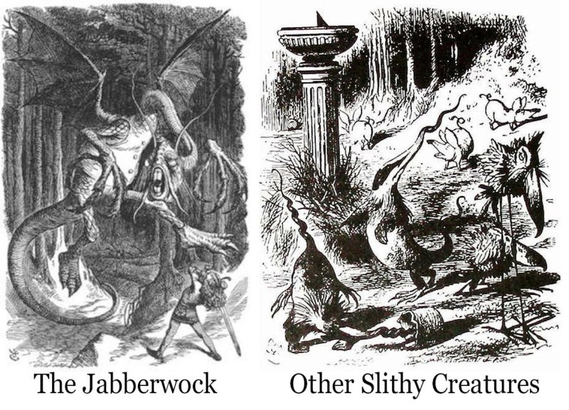 Jabberwocky illustrations by John Tenniel