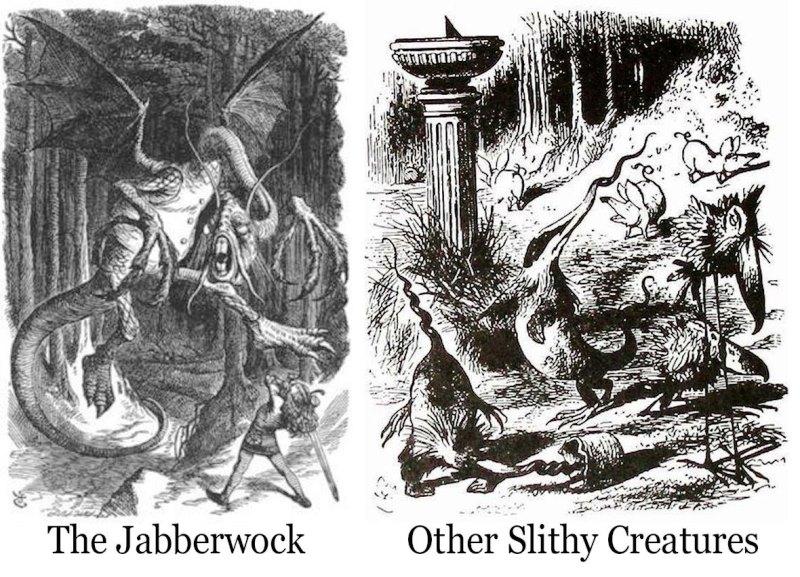 Jabberwocky illustrations by John Tenniel
