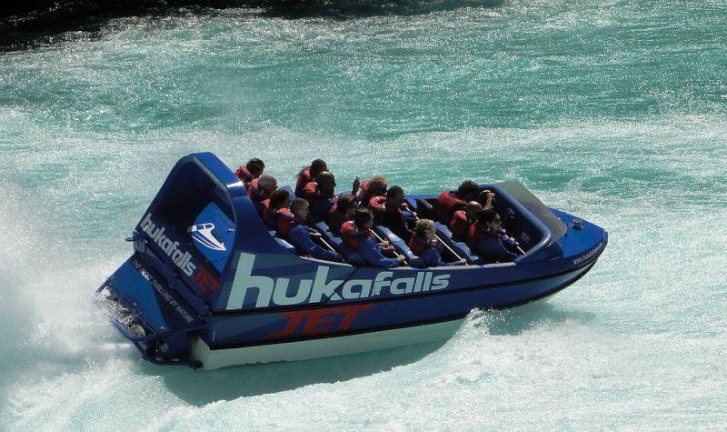 Jet Boat Huka Falls North Island NZ- image EggHead06