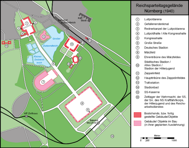 Map of Nazi Party Rally Grounds Nuremberg 1940 - image Lencer