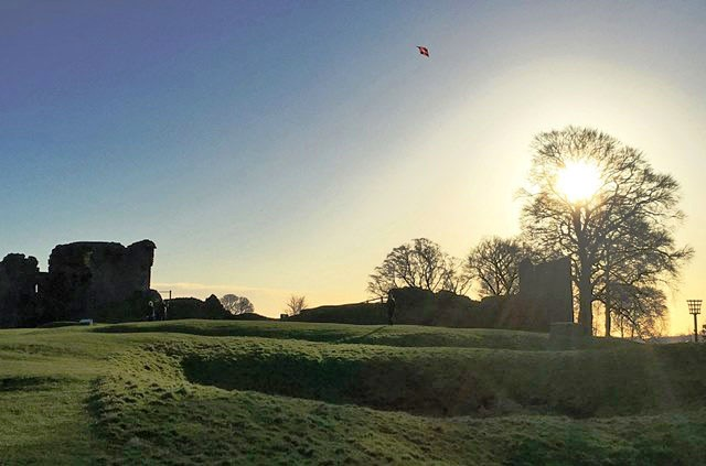 Kendal Castle and kite Cumbria - photo zoedawes