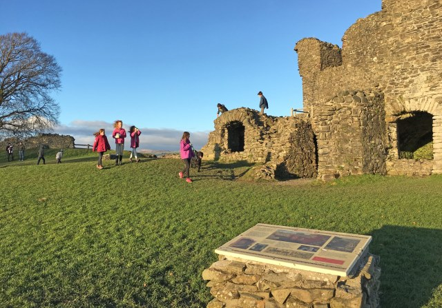 Playing at Kendal Castle Cumbria - photo zoedawes
