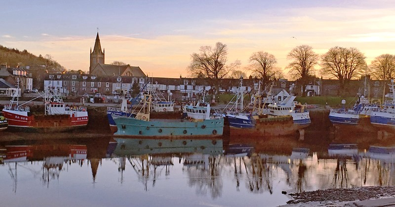 Kirkcudbright at dusk - south Scotland - photo The Quirky Traveller