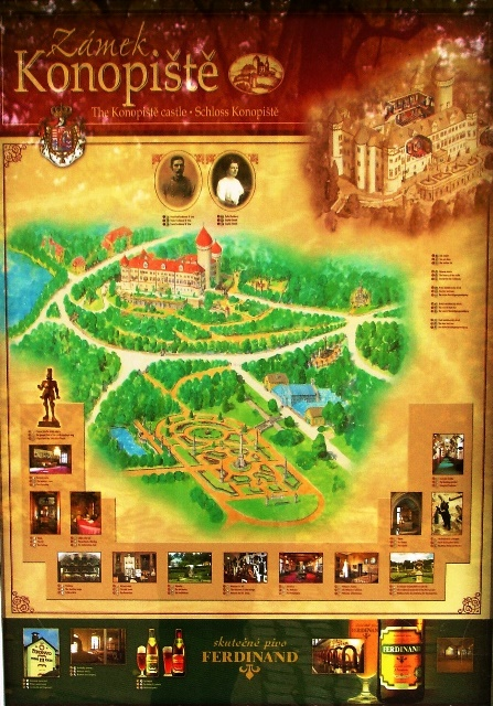 Konopiste Castle and grounds map