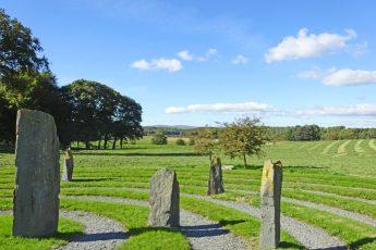 Labyrinth at Holker Hall Morecambe Bay Cumbria - photo Zoe Dawes