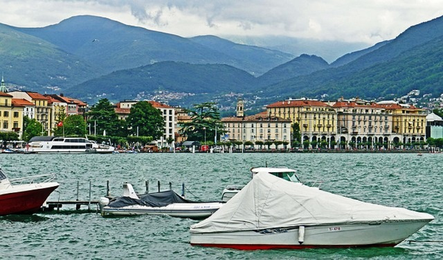 Lake Lugano Italy Europe