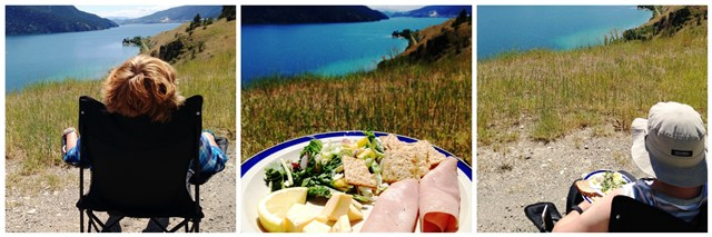 Lunch overlooking Lake Okanagan - RV road trip Canada - image zoedawes